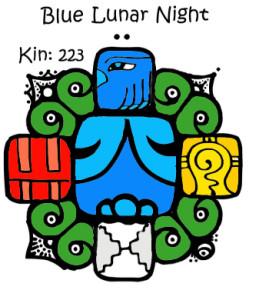 Kin 223, Plava Lunarna Noc