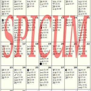 Astroloski kalendar Oktobar 2017