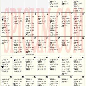 Astrološki kalendar DECEMBAR 2017.