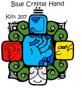 Kin 207 plava kristalna ruka