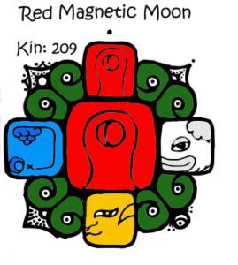 Kin 209 Crvena Magnetna Luna