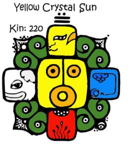 Kin 220, Zuto Kristalno Sunce
