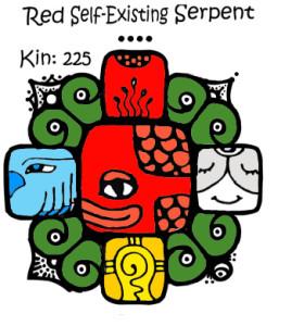 Kin 225, crvena samopostojeca zmija