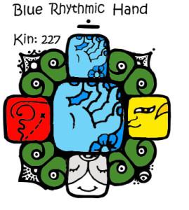 Kin 227, Plava Ritmicka Ruka