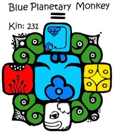 Kin 231, Plavi Planetarni Majmun