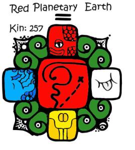Kin 257, Crvena Planetarna Zemlja