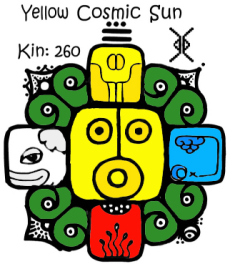 Kin 260, Zuto Kosmicko Sunce