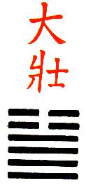 Ji Djing heksagram 34 Ta Chuang Moc