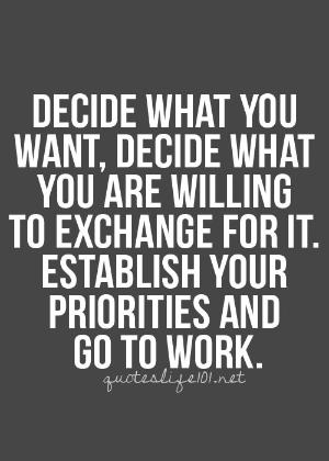 Odlučite šta želite