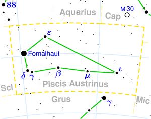 Fiksna zvezda FOMALHAUT 3° 52' Riba
